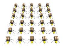 Lotes de trabalhadores das formigas Fotos de Stock