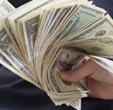 Lotes do dinheiro Imagem de Stock Royalty Free