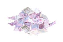 Lotes do grivna do dinheiro fotos de stock royalty free