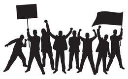 Lotes do protesto furioso dos povos Foto de Stock Royalty Free