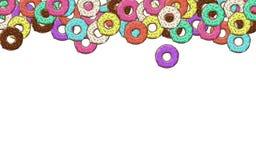 Lotes dos anéis de espuma com colorido Fotografia de Stock