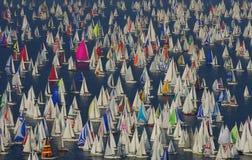 Lotes dos barcos Imagem de Stock Royalty Free