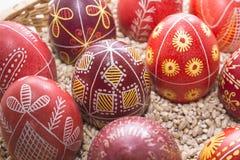 Lotes dos ovos da páscoa no traseiro Imagens de Stock