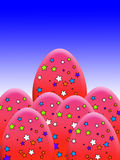 A estrela cobriu ovos Fotos de Stock Royalty Free
