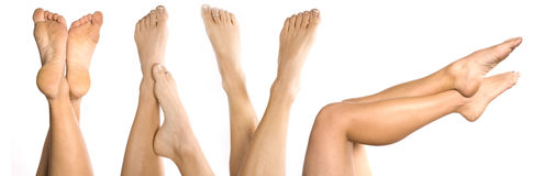 Lotes dos pés Foto de Stock Royalty Free