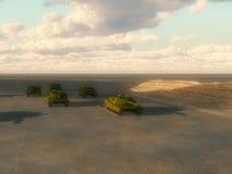 Lotes dos tanques Fotografia de Stock