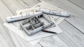 Lotes e modelo home ilustração royalty free
