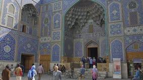 Lotfollah moské Isfahan arkivfilmer