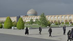 Lotfollah moské Isfahan lager videofilmer