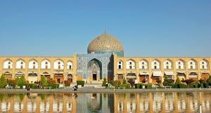 Lotfollah Mosque回教族长在伊斯法罕,伊朗 免版税图库摄影