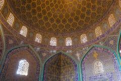 Lotfollah Mosque回教族长在伊斯法罕,伊朗 库存图片