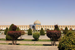 The Lotfollah Mosque on Naqsh-e Jahan Square in Isfahan city, Iran. Stock Image