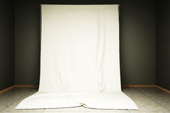 Сloth background. 3d illustration of white cloth background in the photo studio Stock Images