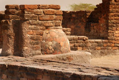 Lothal 6. This was excavated & discovered in 1954 near Ahmadabad,in this image a filter for water is seen which shows what kind of drinking water filtration Stock Photos