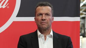 Lothar Matthaus portrait. Meeting FIFA World Cup Trophy in Moscow, Russia