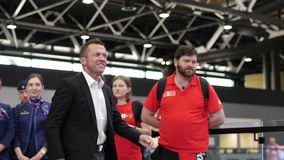 Lothar Matthaus at presentation of FIFA World Cup Trophy in Russia