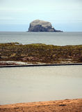 Lothian Coast with Bass Rock. Seacoast in Lothian - region in the south of Scotland Royalty Free Stock Image