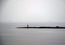 Lothian Coast with Lighthouse. Seacoast in Lothian - region in south Scotland Stock Photo