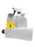 Lotion bottles. Some lotion bottles of various size and type royalty free stock images