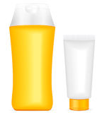 Lotion containers Royalty Free Stock Photography
