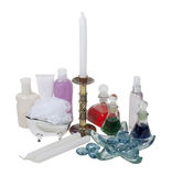 Lotion, Potions, Candles and Relaxation Royalty Free Stock Photo