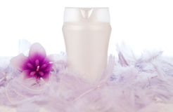 Lotion tube with decoration Stock Photos