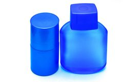 Lotions. Photo of the lotions on white background Stock Images
