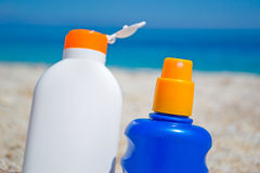 Lotions by the sea Stock Image