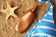 lotionsolbränna Royaltyfria Bilder