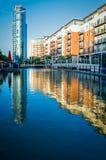 Lotissement au bord de l'eau à Portsmouth, R-U Photo libre de droits