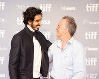 Lotisseur Patel avec la conférence de presse de John Collee d'auteur pour le festival de film international de Mumbai Toronto d'h image libre de droits