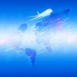 Lotnictwa błękita tło Obraz Royalty Free