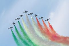 lotnictwa demonstraci drużyna Obraz Royalty Free