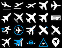 Lotnictwo ikony set Obrazy Stock
