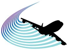 lotnictwo logo Zdjęcie Royalty Free