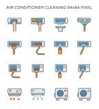 Lotnicza conditioner ikona Fotografia Royalty Free