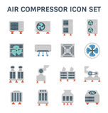 Lotnicza conditioner ikona royalty ilustracja