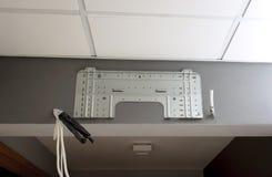 Lotnicza conditioner instalacja na biura lub domu ścianie Obraz Stock