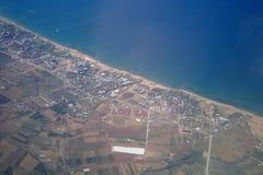 Lotnicza fotografia miasto. obraz stock