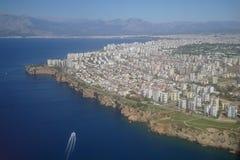 Lotnicza fotografia miasto. zdjęcie stock
