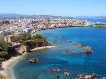 Lotnicza fotografia, Tabakaria, Chania, Crete, Grecja Obraz Stock