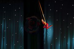 Lotnicza gimnastyczka obraz royalty free
