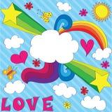lotnicza miłość Zdjęcia Stock