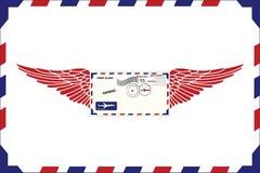 lotnicza poczta Obraz Royalty Free