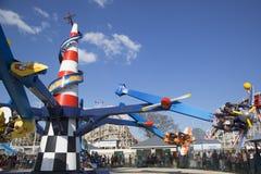 Lotnicza rasa w Coney Island Luna parku Obraz Royalty Free
