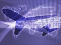 lotnicza samolotowa podróż Zdjęcia Stock