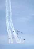 lotnicza strzała pokazu siły czerwień królewska Fotografia Stock
