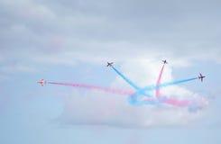 lotnicza strzała pokazu siły czerwień królewska Fotografia Royalty Free
