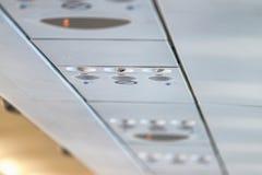 Lotnicza wentylacja na samolotowym wnętrzu Obraz Stock