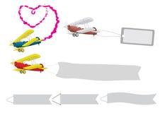 lotnicza wiadomość royalty ilustracja